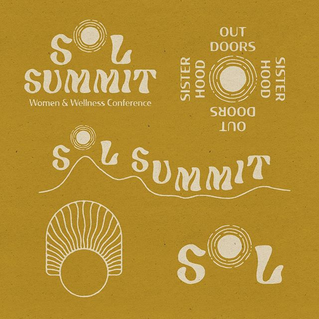 This identity for Sol Summit, a women and wellness conference set in the mountains of Switzerland, connects the natural beauty of womanhood and the great outdoors. Authenticity, femininity, strength, and a renewed appreciation to nature are important values of this conference. All of which are honored by the embracing the organic shapes and natural color palette in the identity.