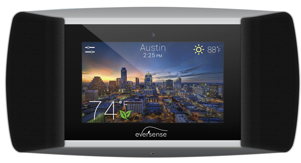 Feature Packed Design - The overall design of the user interface of the EverSense® is that of an attractive and smart thermostat that also has several helpful and entertaining features that users would appreciate.A few of those features include an easy to read home screen, energy tips to increase home energy use and efficiency, a dedicated streaming music player, a local weather forecast and a control hub for various other smart home devices.