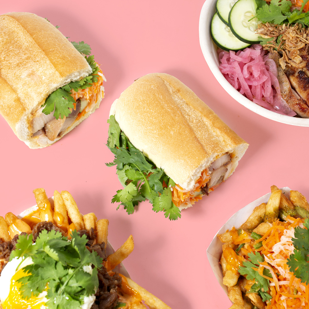 Modern Vietnamese Sandwiches and more - Handcrafted Vietnamese sandwiches, bowls, and specialty fries made with fresh ingredients and a modern twist. Options available for carb-conscious diners.