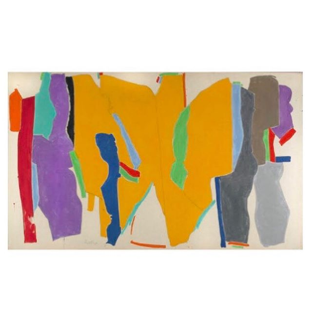 JACK ROTH (1927-2004), Rope Dancer #31, 1980, Acrylic on canvas, 54 x 90 inches, Signed, titled and dated '80 verso 🔵 all art placed by GLAM, all artwork copyrighted by the Artist  #gregglaneartmanagement #katelaneferraro #modernandcontemporaryart #jessicalagrangeinteriors #abstractart