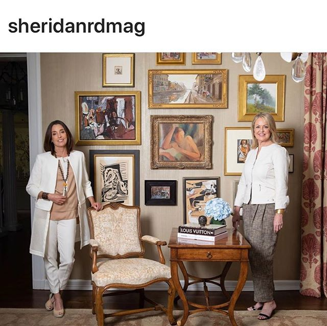 Thank you @sheridanrdmag for featuring us in the TRENDS section of your August magazine! #GLAMcelebrates10 #gregglaneartmanagement #katelaneferraro #lisagregg6 #favoritekenilworthclients #salonwallart