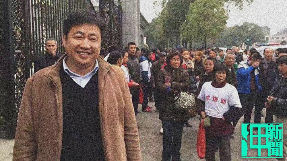 中國維權律師謝陽日前在被保釋出去後,稍早又遭特警控制人身自由。圖片提供:陳桂秋