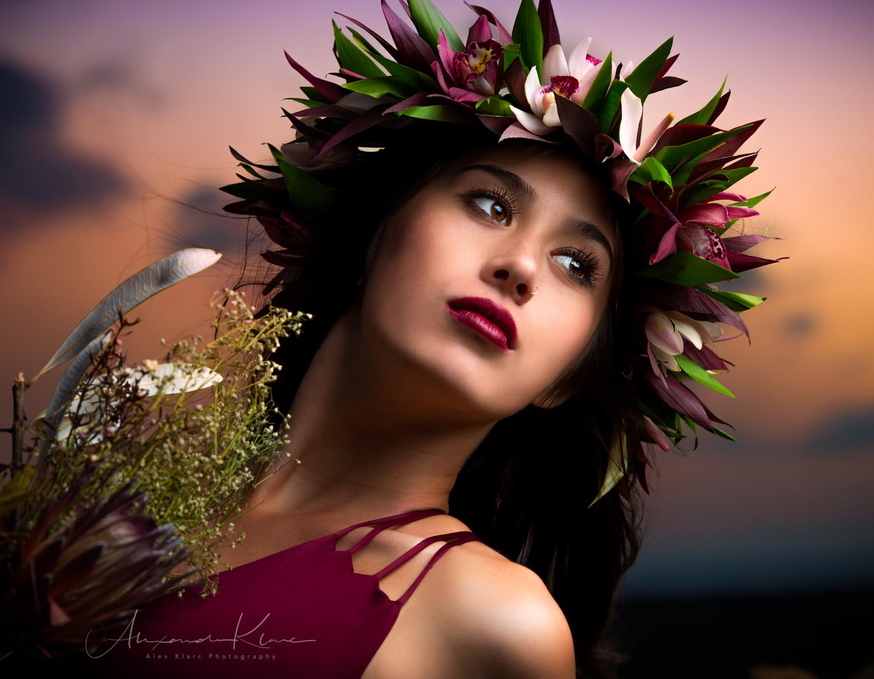 hawaii-sunset-flowers-model-elopement-©-klarcmiyako-Photography.jpg