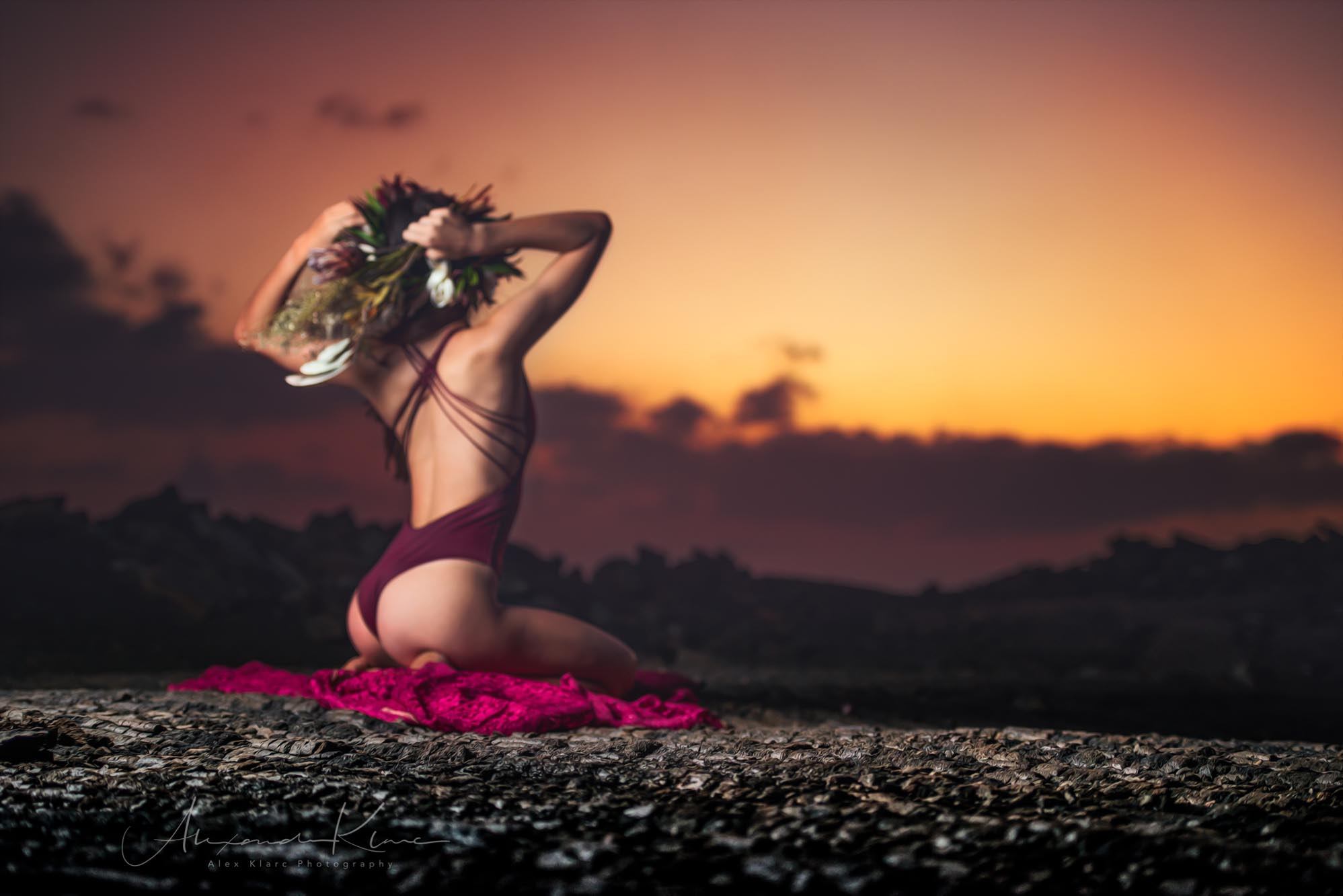 hawaii-sunset-lava-flowers-model-AlexKlarc©Photography.jpg