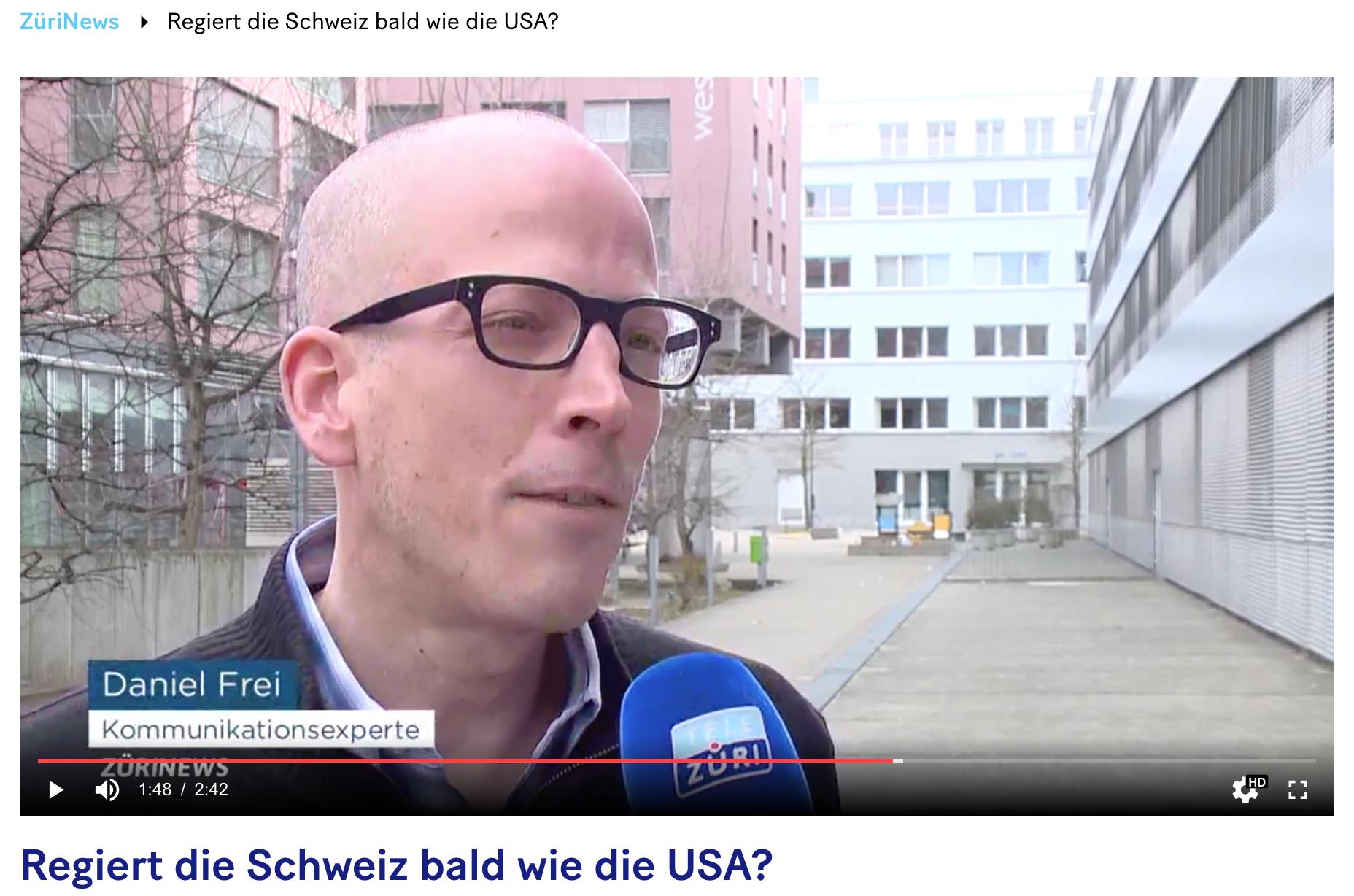 Screenshot: ZüriNews von TeleZüri