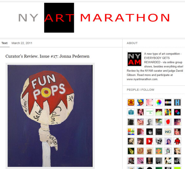 NY ART MARATHON - 2011Review by newyorker curatorDavid Gibson -