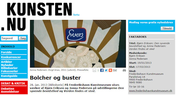 KUNSTEN.NU - 2013Article about