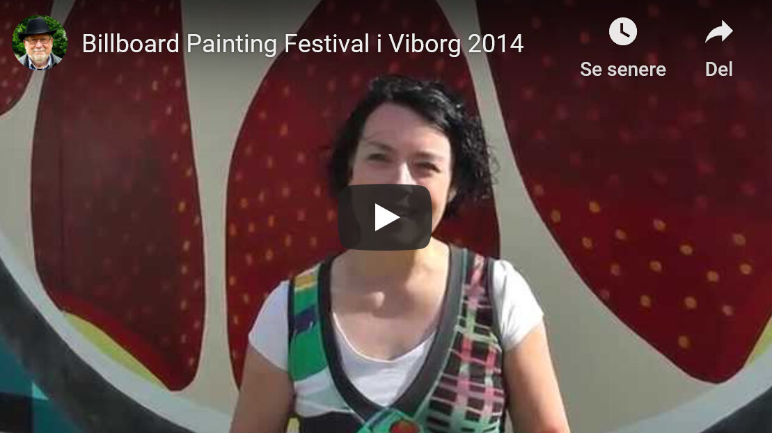 video by bjarne Eriksen about the opening of the Billboard festival 2014 + interview about my process with the billboard painting -