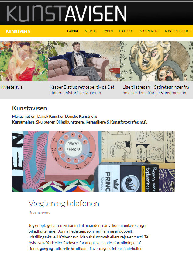 kunstavisen 2019 - article about[ fone ] paintings -