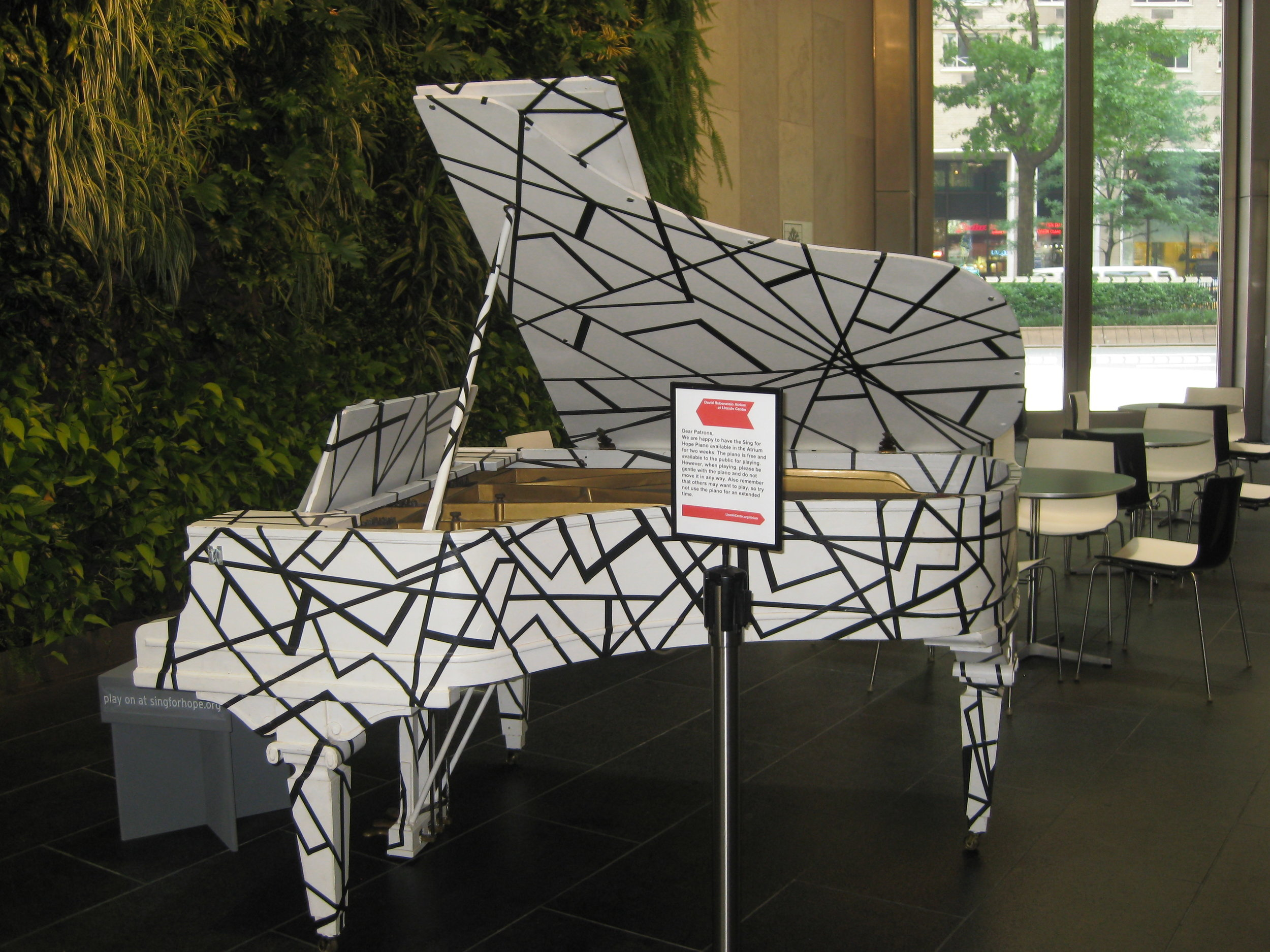 Sing For Hope Pop up Piano - Lincoln Center Atrium