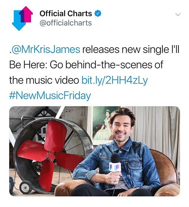 The lovely guys at the Official Charts Company came behind the scenes of my new music video! check it out below.  https://www.officialcharts.com/chart-news/kris-james-releases-new-single-ill-be-here-go-behind-the-scenes-of-the-music-video__26392/ . . . . . . . . . #Music #NewMusic #interview #musician #musicvideo #shooting #london #illbehere