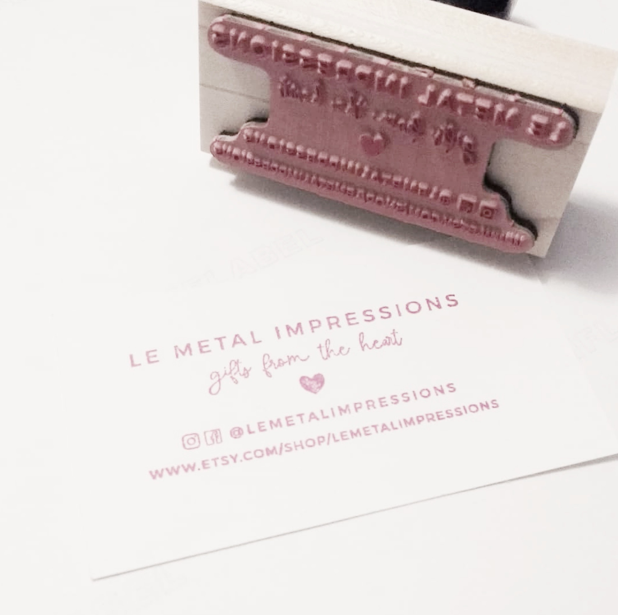"""""""I am in LOVE with my new business card stamp from @creatiate 😍  Excellent product, every time! Thank you! !""""  ~ @lemetalimpressions"""