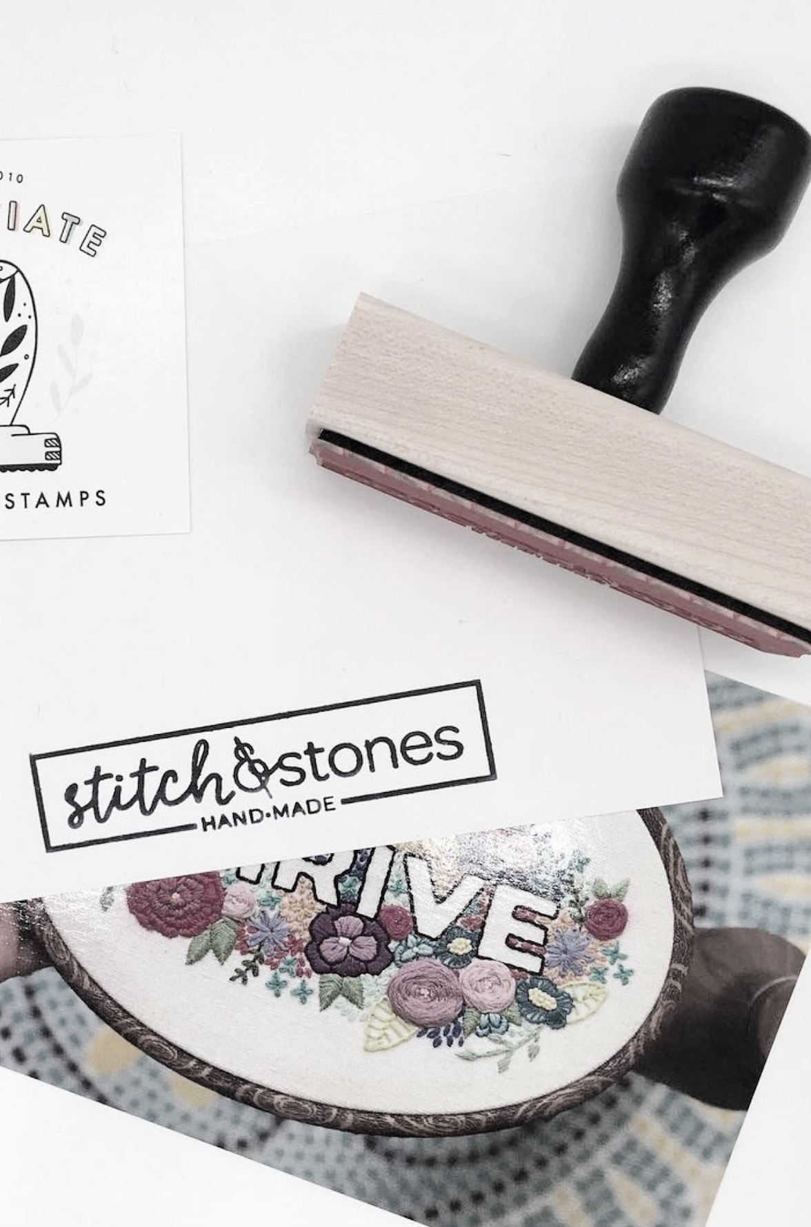 """""""Another perfect purchase from  @creatiate ! … I knew as soon as I got these postcards that this stamp would look great on the back. I am so impressed with Sarah's work and  can't wait to stamp everything in sight  😍"""" ~  stitch.and.stones"""
