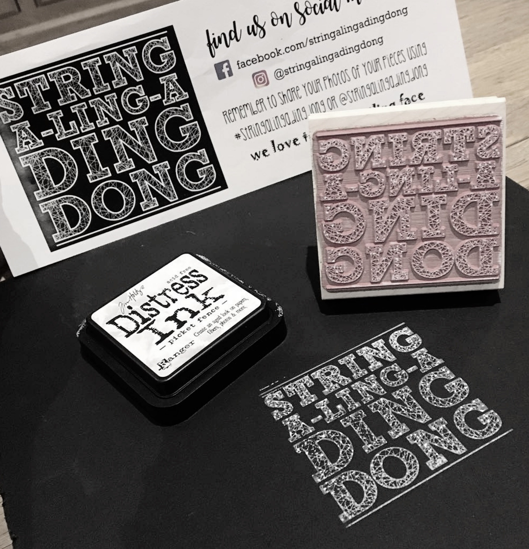 """""""Check out my awesome new custom stamp from @creatiate shipped in from the US of A and hand made by the lovely Sarah…  over the moon with my stamp  🙌🏻 """"  ~  stringalingadingdong"""