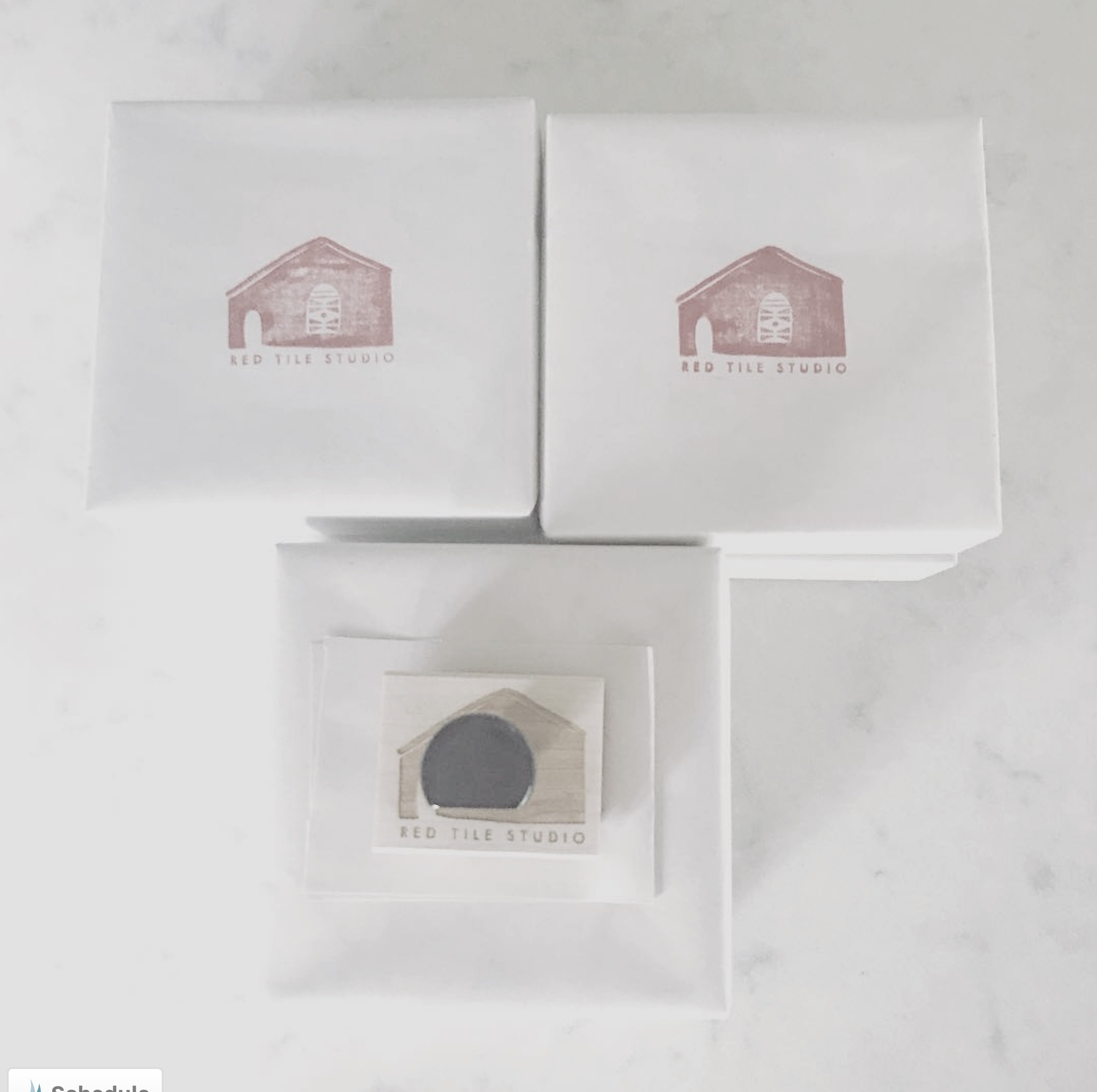 """""""Orders shipping out and each art block gets individually wrapped and stamped with our logo.  That awesome stamp is made by @creatiate  and she can turn your logo into a stamp.""""  ~  redtilestudio"""