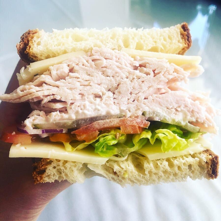 DRM Turkey & Swiss Sandwich