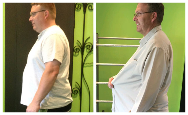 Phil lost 32 kg - I couldn't go to a normal gym, I wouldn't know what to do. I like the privacy here and I can switch off and just follow the instructions! I am fitter and stronger than I have ever been.