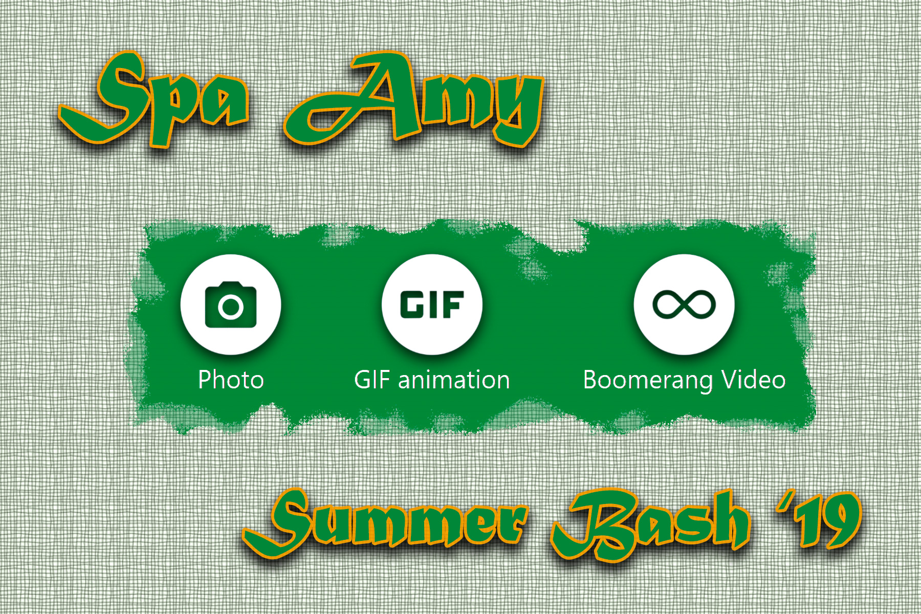 Personalize your event - We personalize the touchscreen, photos, souvenir prints and video templates with your colors, logo, event name, etc.