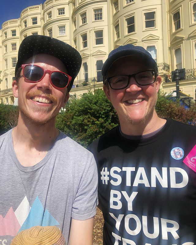 What an amazing day at Trans Pride in Brighton for all of us at Team Seahorse. Joyful to meet so many lovely people from all over the world. 💙💗🌈#transisbeautiful #transpride #seahorsedad #seahorsefilm #jasonbarker #brighton