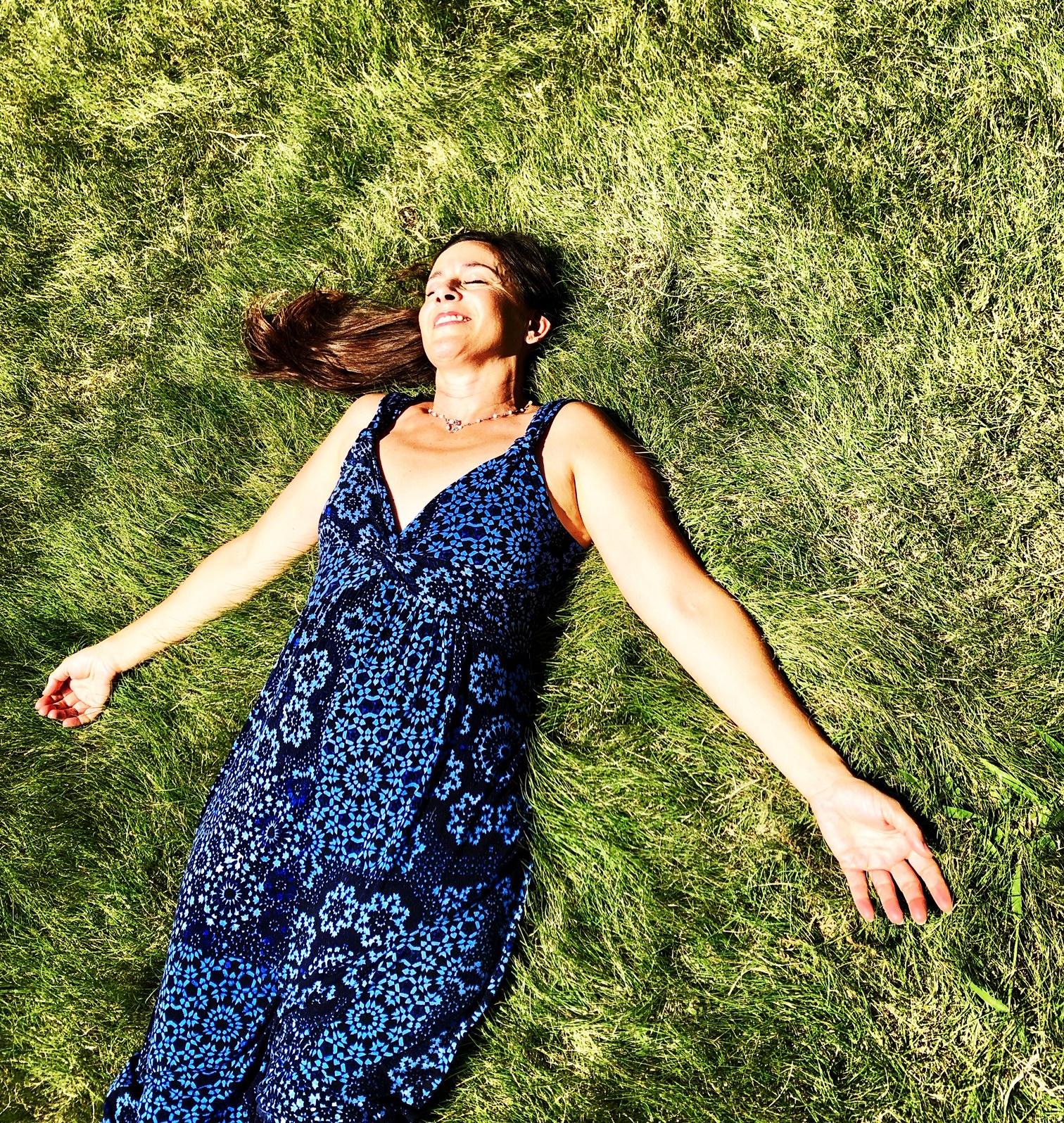 Denise in grass.JPG