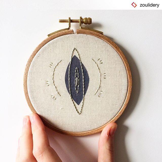 So lovely!  #Repost from @zoulidery . Tambour vulve pour un peu d'art féministe sur vos murs ❣️ Pour broder toi même ton propre tambour, participe à l'atelier que j'anime à l' @openbach_ , mardi 29 janvier à 18h30, Infos et réservations :  https://www.weezevent.com/broderie-feministe-avec-zoulidery