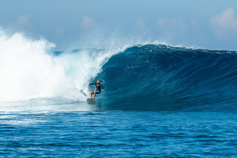 Namotu Lefts in Fiji, August 2018. Dreams do come true! (Photo by Stu Gibson)