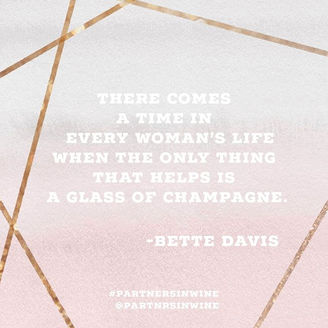 I'm sure we'll need one at the end of the day. What will you be sipping on after work today? #modaymotivation #partnersinwine #womenandwine
