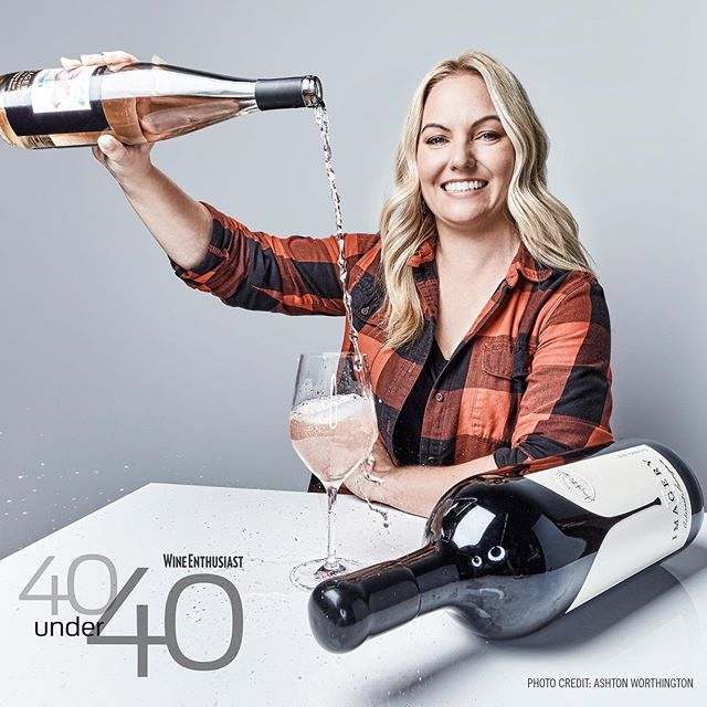 Today for #womeninwinewednesday , we're profiling Jamie Benziger, winemaker for @imagerywinery . She's KILLING it! She was just named one of @wineenthusiast 's 40 Under 40 Tastemakers of 2019. Head to our blog to read our full post. Cheers to Jamie! #broadenyourpalate #imagerywinery #partnersinwine