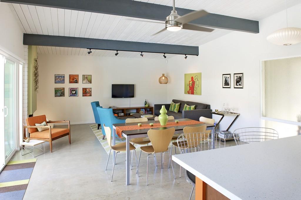 midcentury modern Living Room, palm springs, ca