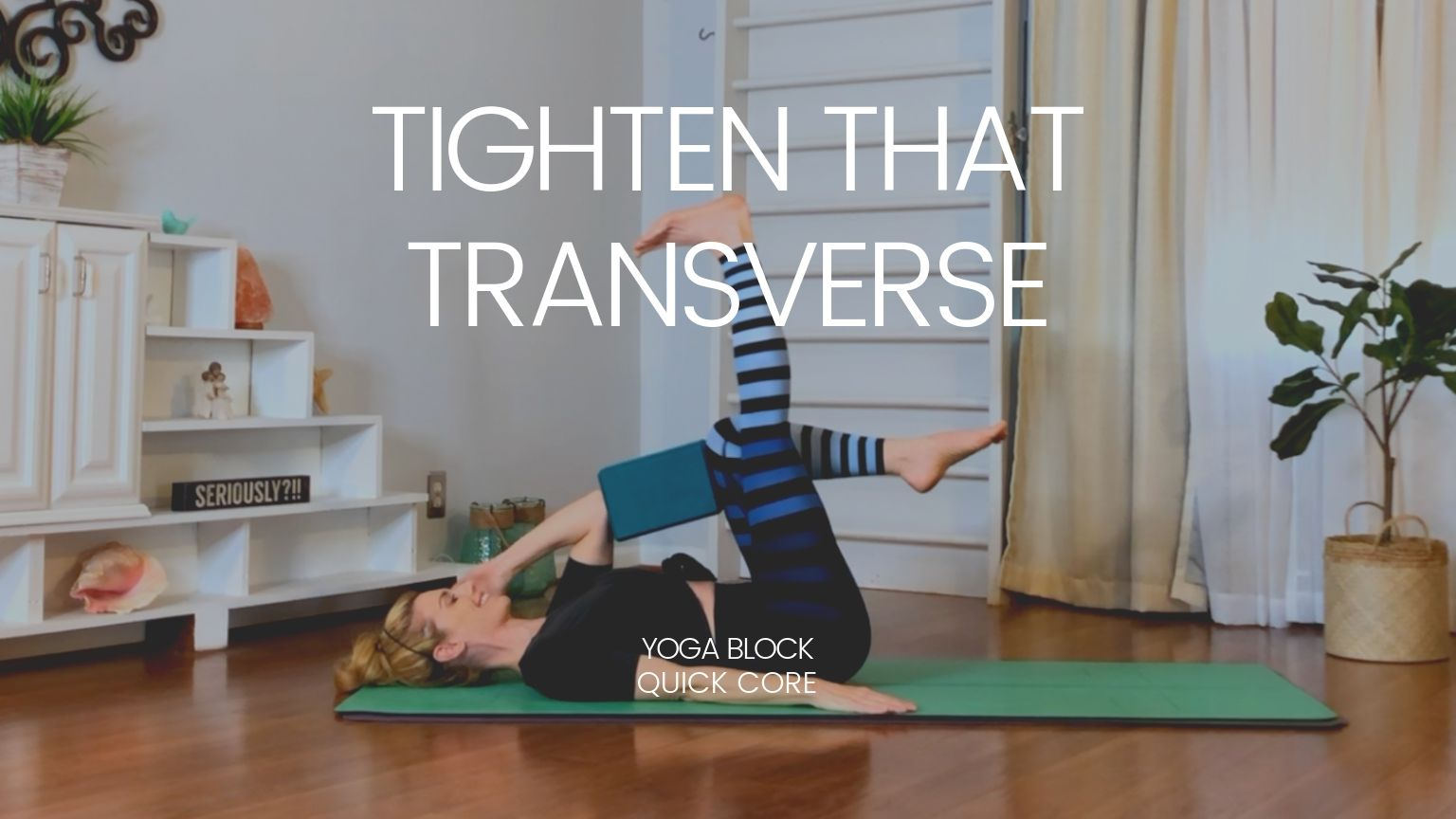 "Use ""posture"" and get $10 off! - NEW CLASS: Tighten That Transverse"