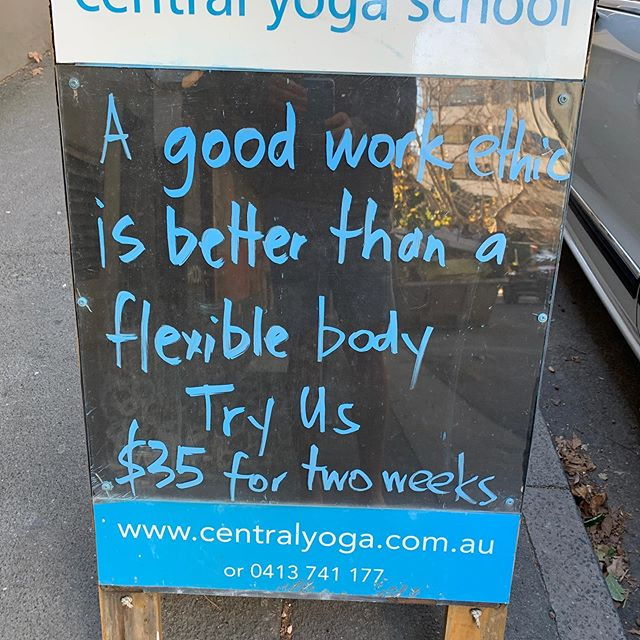 A time eventually comes when you can make up your own quotes. #30years #iyengaryoga #iyengaryogateacher #yogisofoz #yogasurryhills #centralyogaschool #iyengaryogaandbusinessdontmatch #yogabusiness #attractingtherighttypeofpeople #flexibility #enemiesofyoga