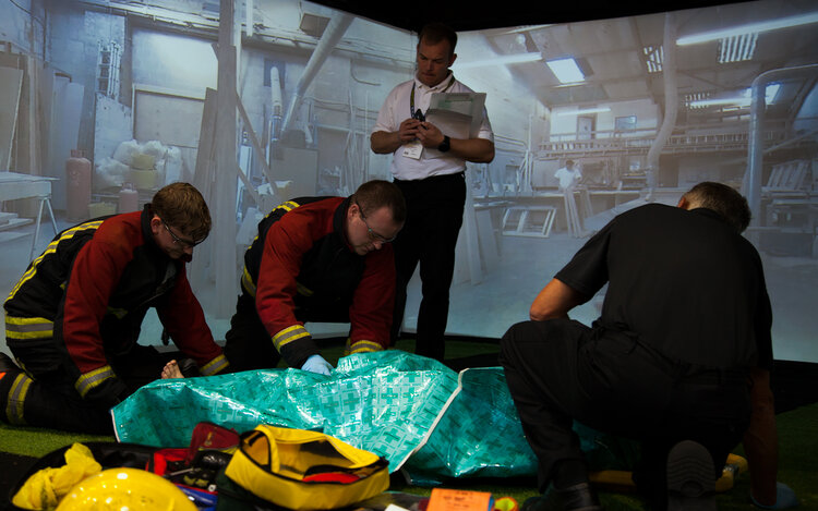 An immersion suite used for paramedic training