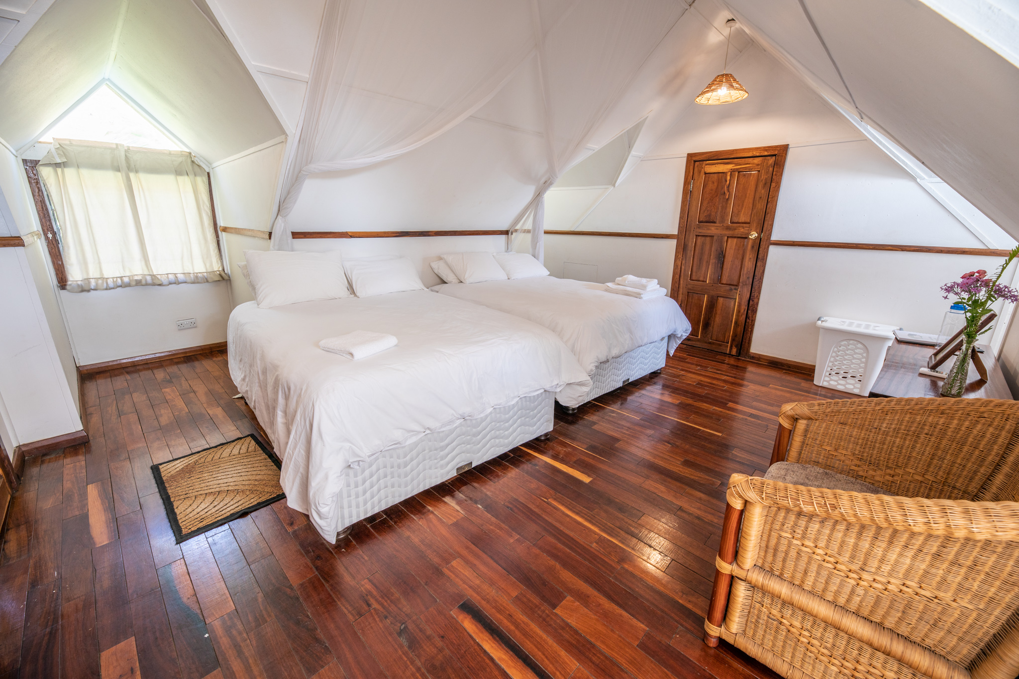 K8400 - Spacious rooms in our Wellness Lodge include a private bath, air conditioning, and housekeeping services.