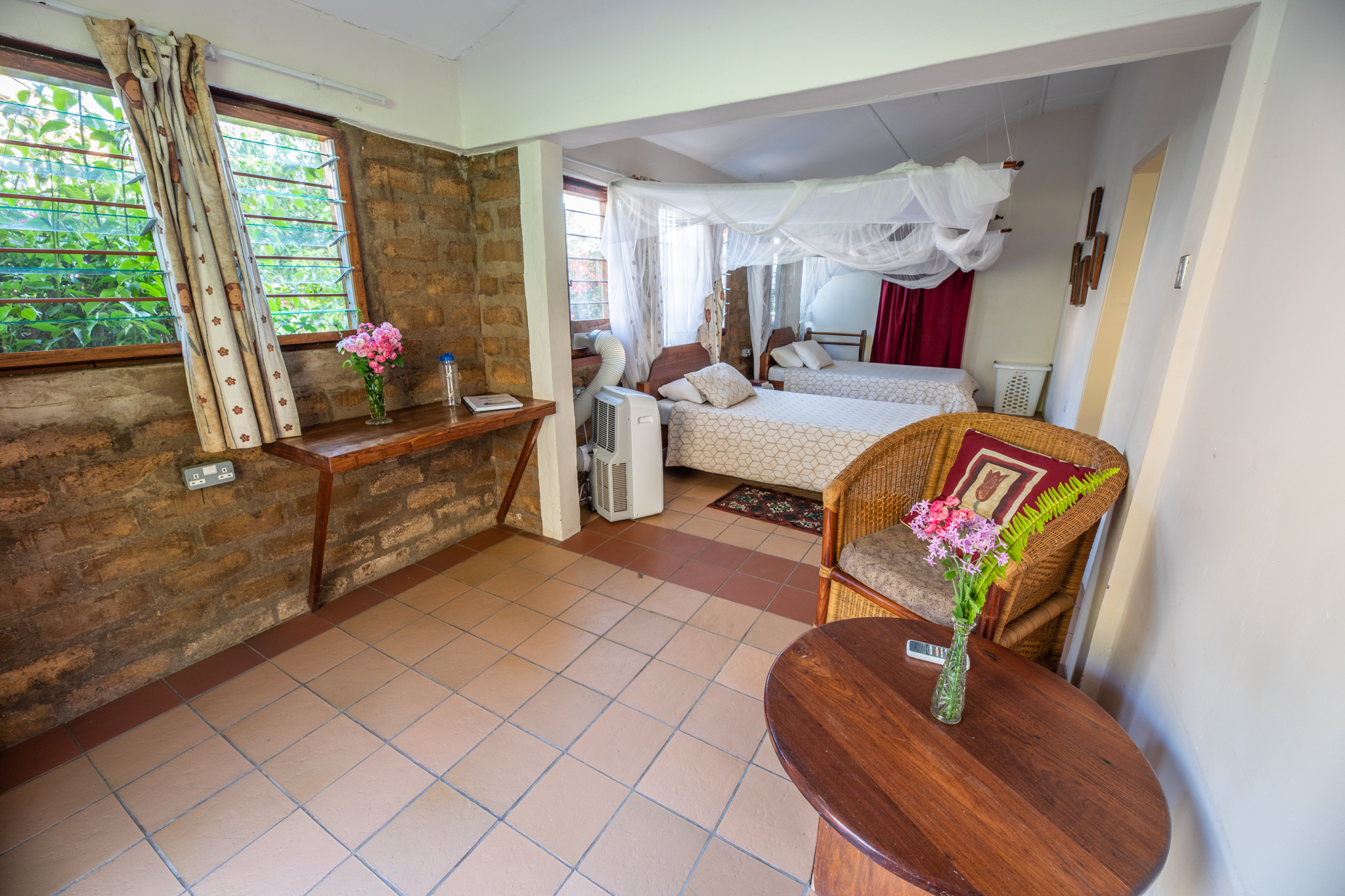 K7400 - Comfortable rooms in our Wellness Lodge including a private bath and housekeeping services.