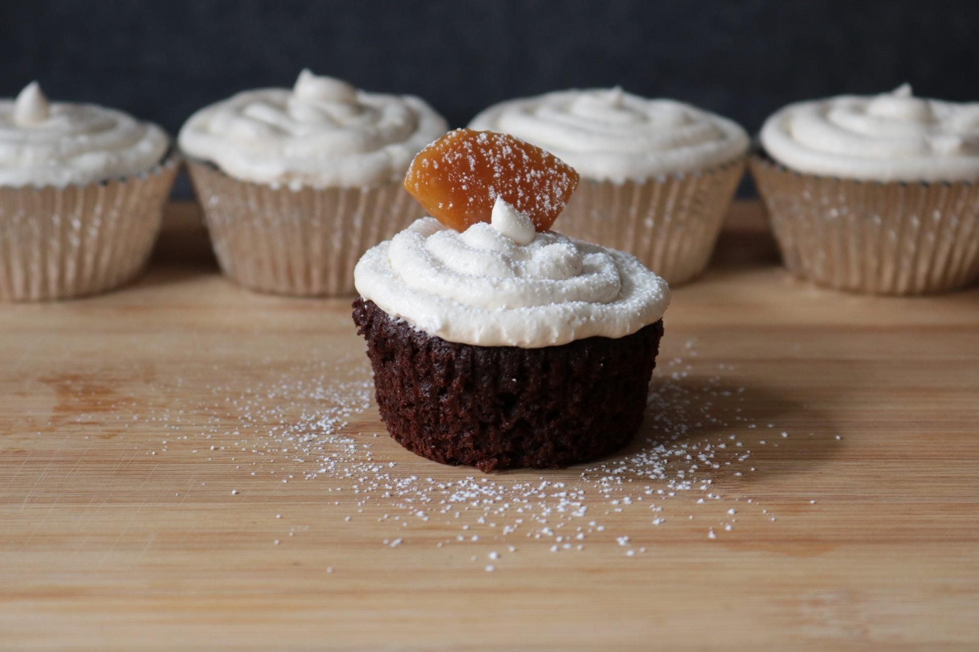 Chocolate Bourbon Cupcake