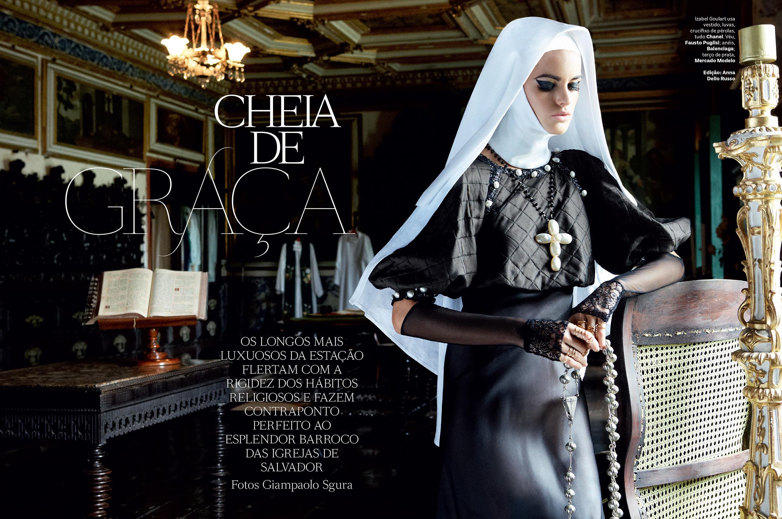 Editorial para Vogue Brasil em 2013 fotografado por Giampaolo Sgura. (clique na imagem para ver todas as fotos)
