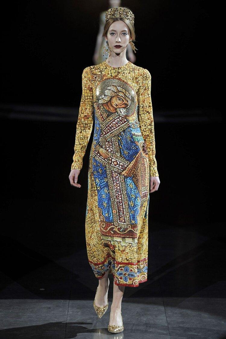 Dolce & Gabbana e os mosaicos bizantinos, 2013