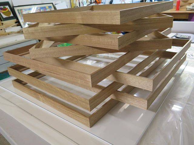 Loving these Tassie oak slip frames... a great way to finish off works on canvas or board