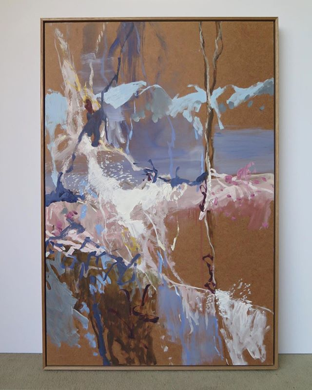 Lovely to work with some new paintings on board by @tildumas in tassie oak slip frames