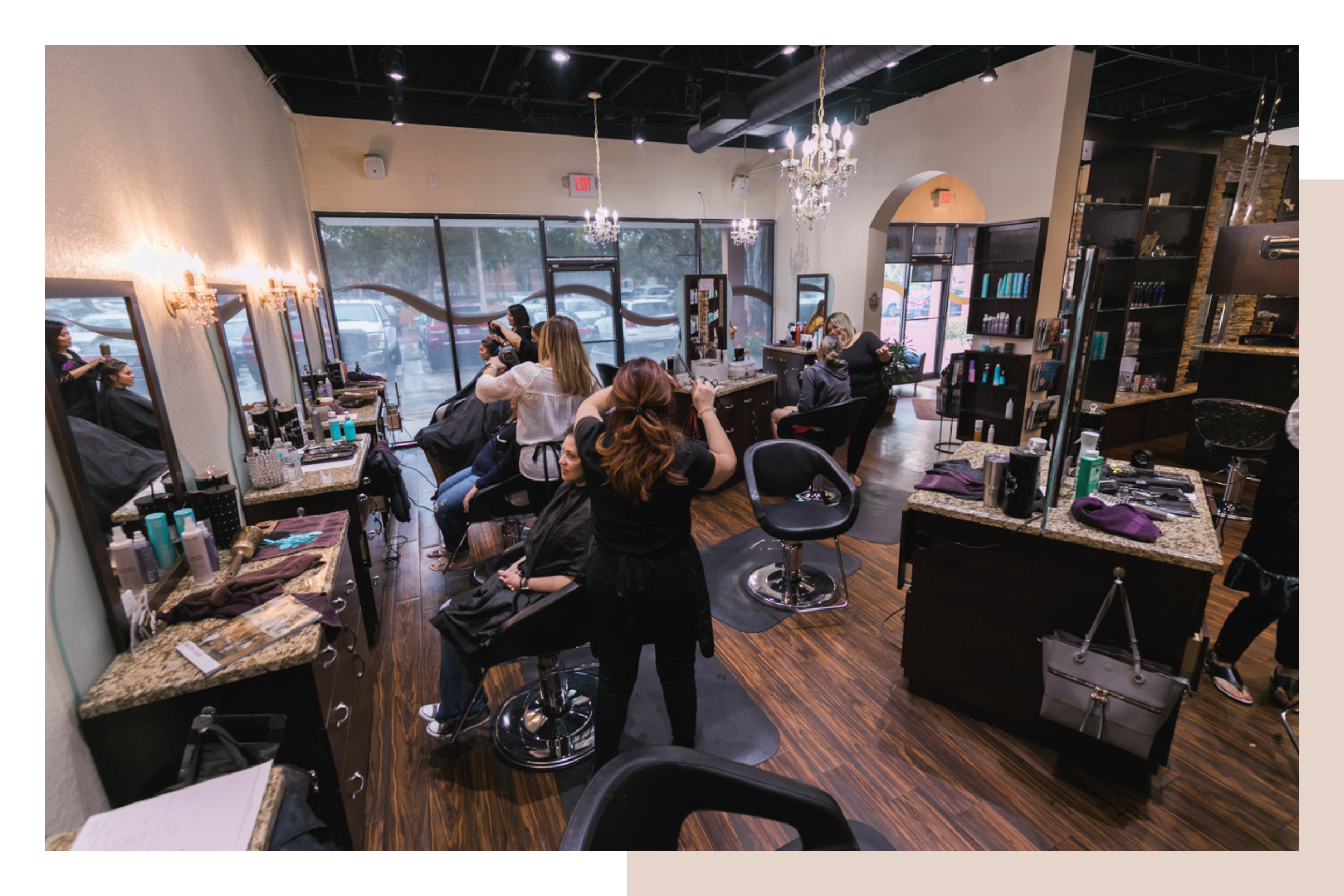 Unique Features - At Blown Away Hair Salon, we have gone to great lengths to ensure clients experience a comfortable and inviting salon environment. You will immediately notice our unique salon features including our premium product lines, ventilated treatment rooms, and state of the art color bar.
