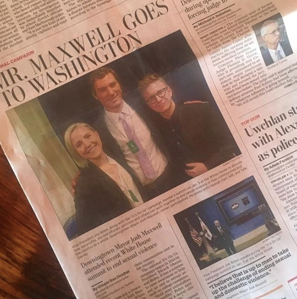 Daily Local News  featuring Josh's trip to the White House for summit on ending sexual violence
