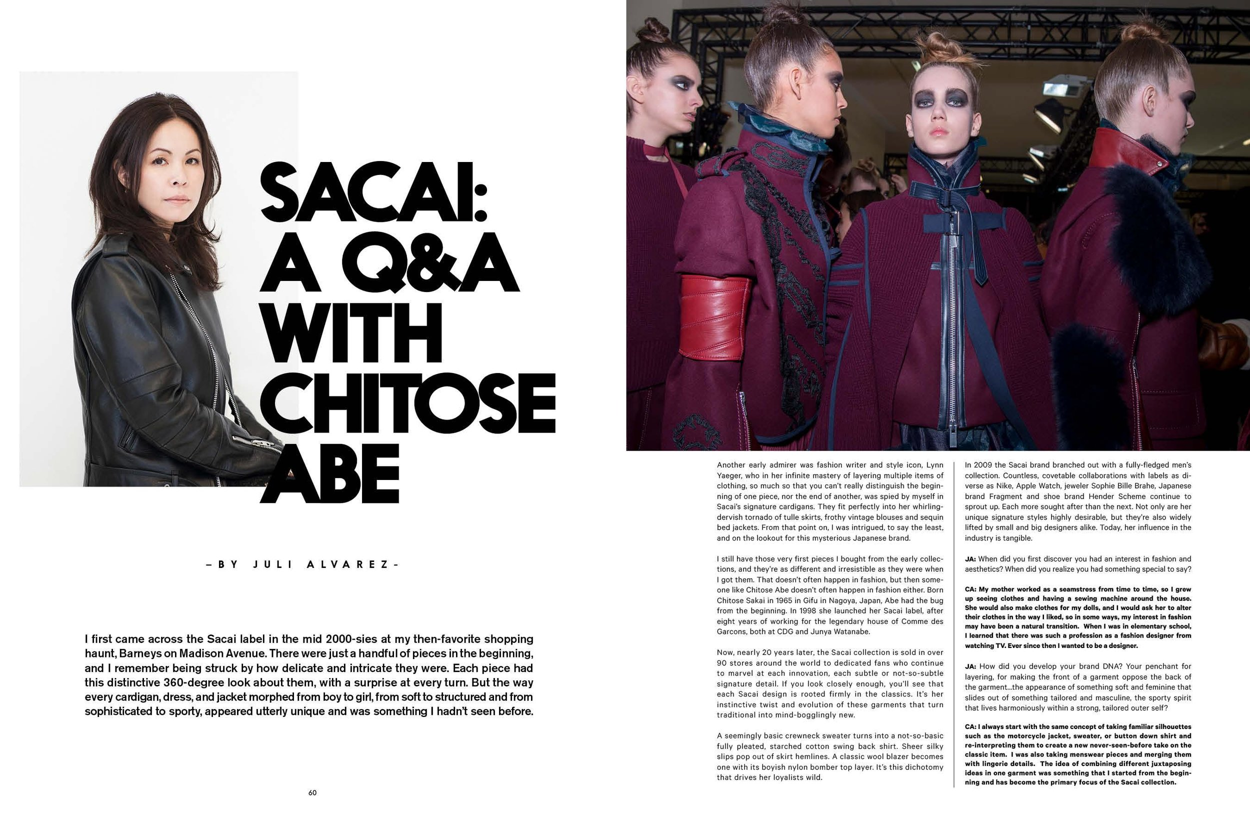sacai feature / amazing magazine