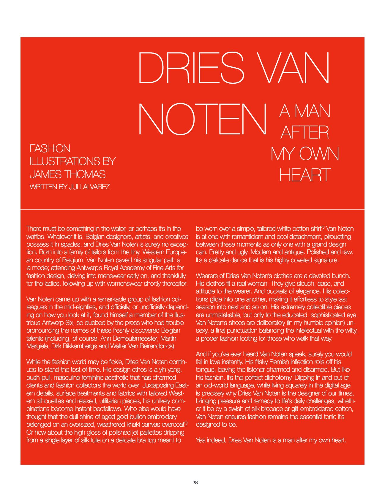 dries van noten feature / amazing magazine