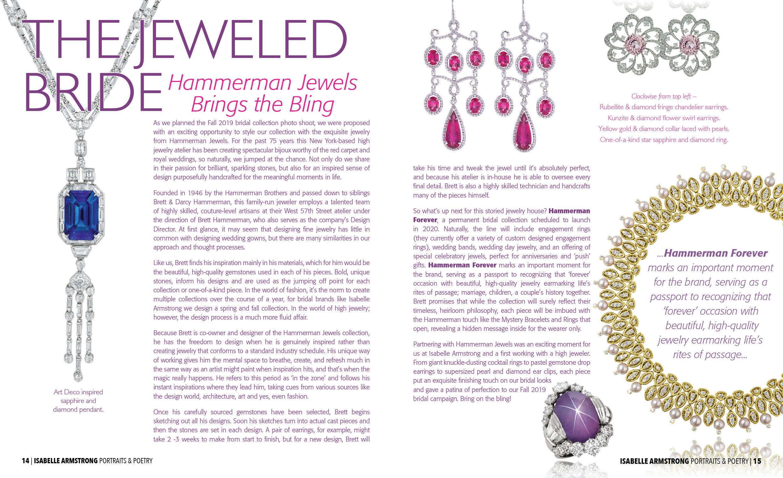 hammerman jewelry feature / isabelle armstrong digital content