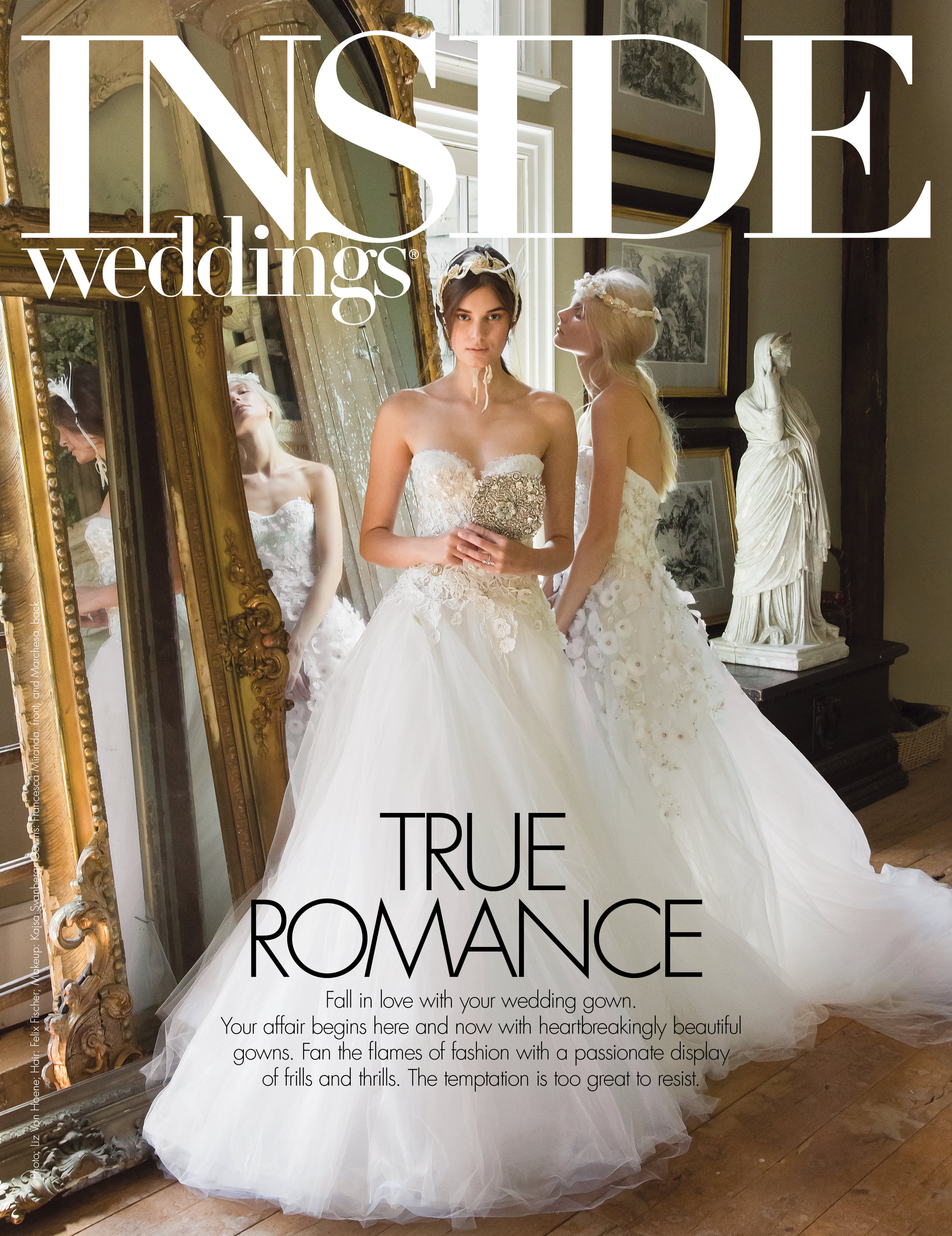 copywriting / inside weddings magazine