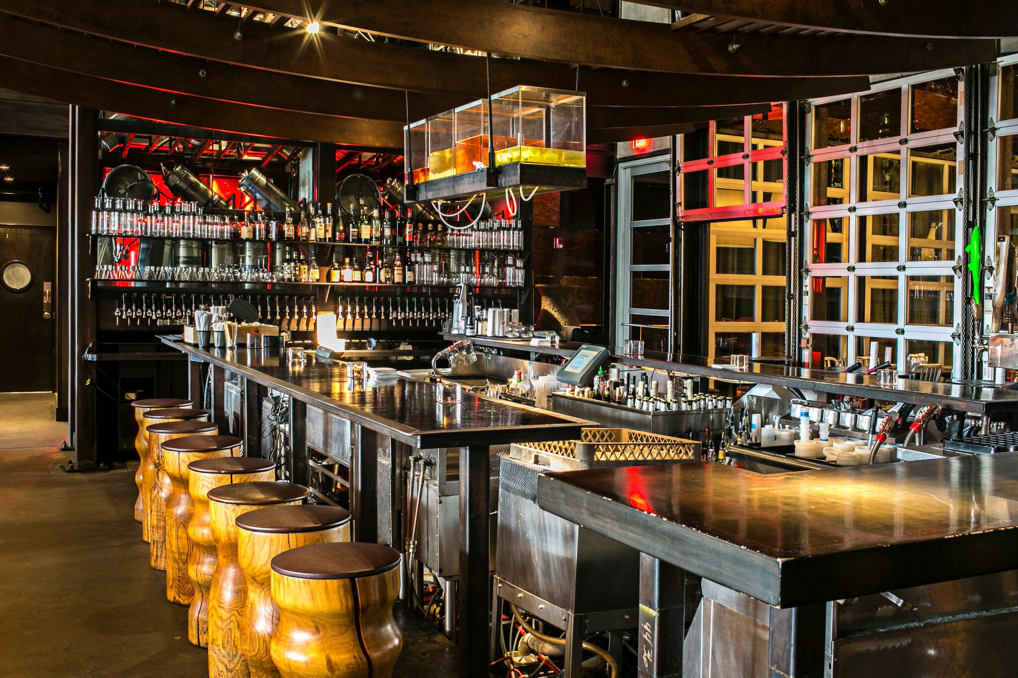 See those containers above the bar? They hold Two Urban Licks' house-made infusions (c) Caren West PR