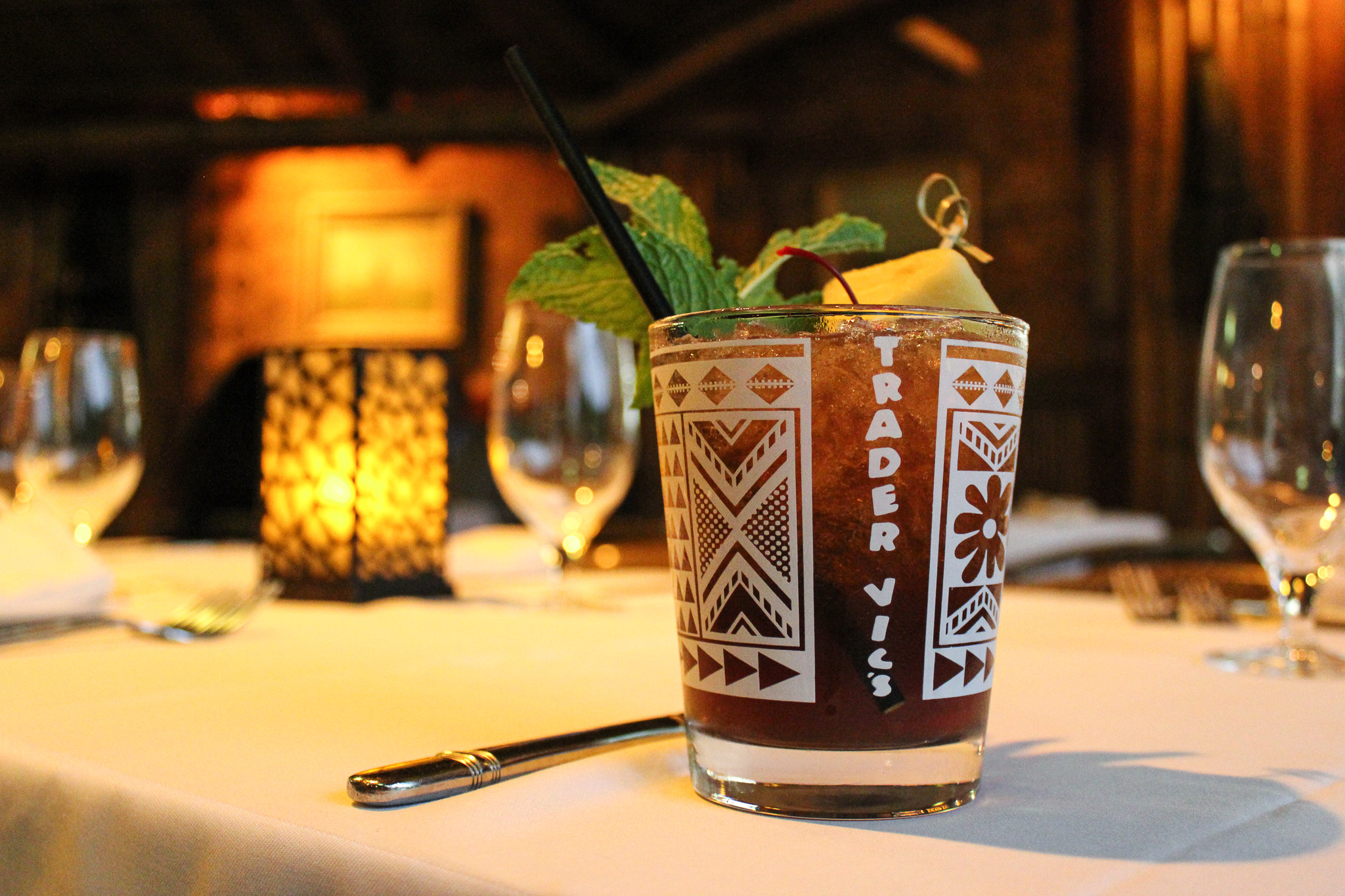 The famous Mai Tai at Trader Vic's (c) Anna Lanfreschi