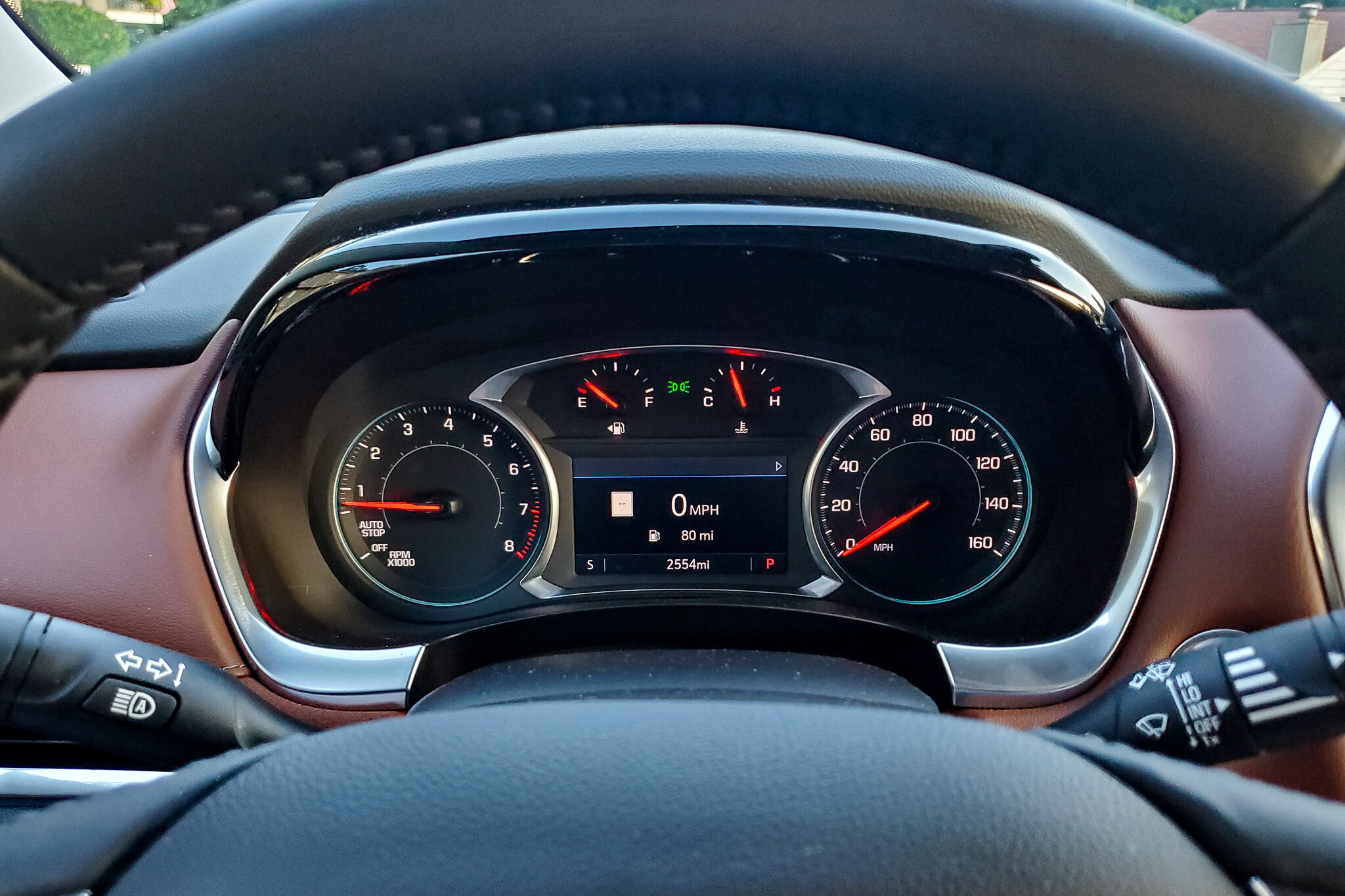 The digital speed display in the 2019 Chevy Traverse makes it easy to know exactly how fast you're going (c) Anna Lanfrechi