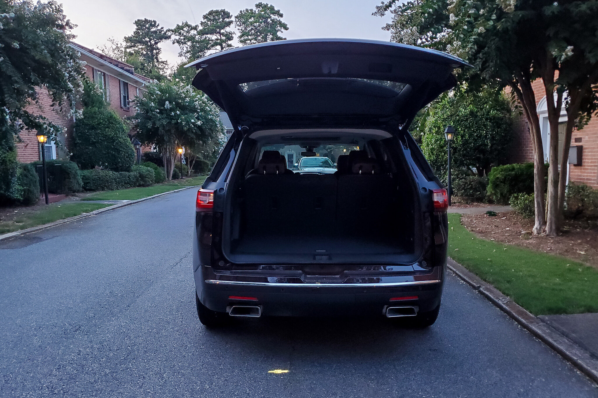 Plenty of trunk space for all your road trip luggage inside the 2019 Chevy Traverse (c) Anna Lanfreschi