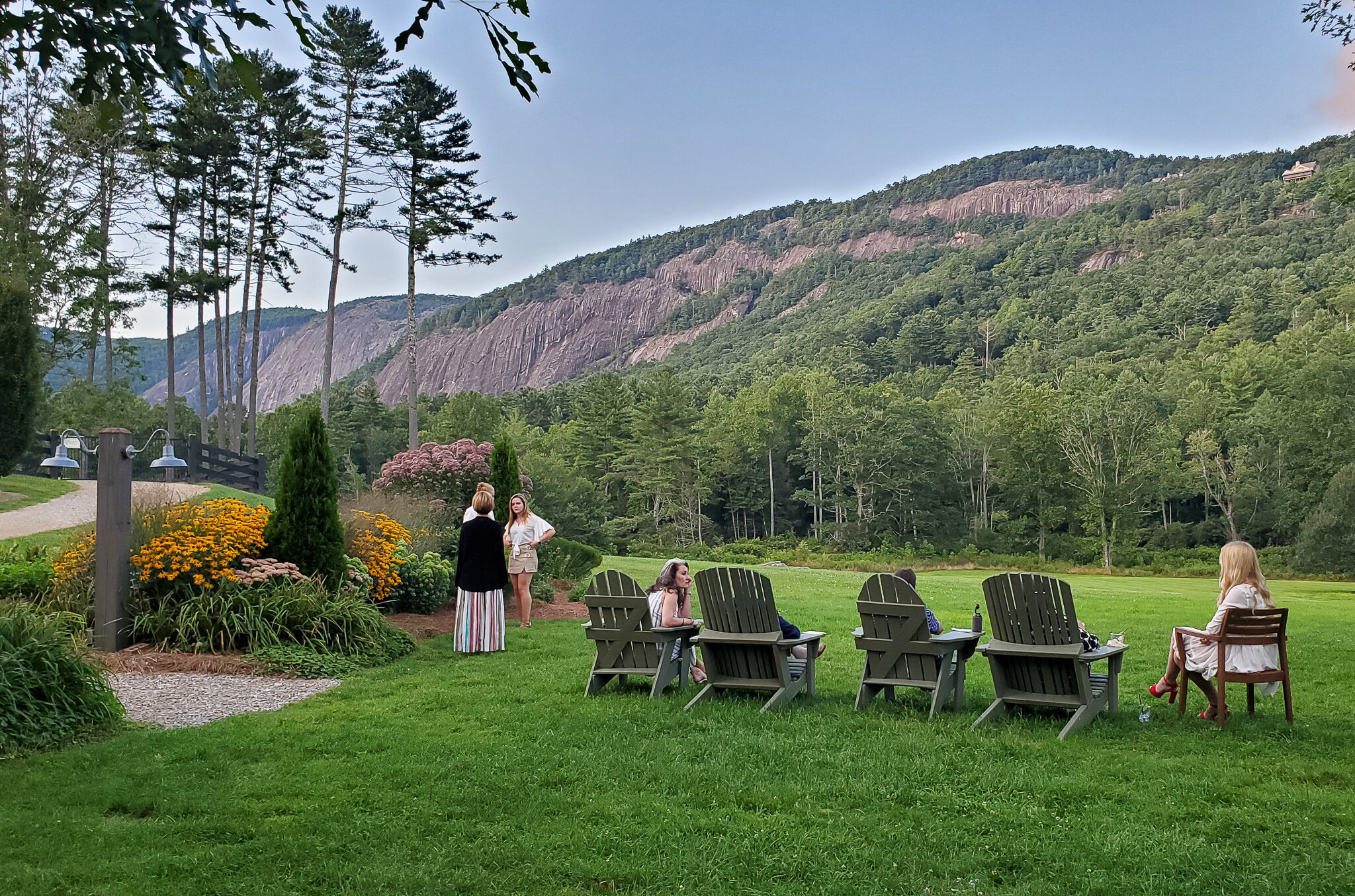 The views from the lawn of Canyon Kitchen near Cashiers, North Carolina (c) Anna Lanfreschi